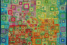 Contemporary Textile Art / modern quilts, contemporary quilts, textile art