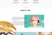 make-up website design