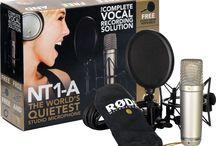 Audio Profesional / Micrófonos, Audífonos, Monitores de Estudio, Equipos de Grabación y más.