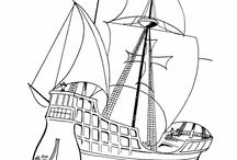 Dibujos de carabelas 12 de octubre 1492