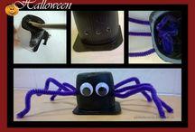 Halloween / Fazer trabalhos manuais e decorações de Halloween com as crianças é super divertido!