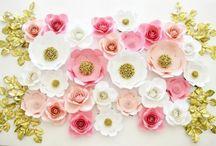 Flores de Papel / Tudo o que você precisa saber sobre como fazer flor de papel, decoração de festa com flores de papel, decoração de casamento com flores de papel e muitas ideias de flor de papel gigante. Aproveite e inspire-se no estilo diy. #flordepapel #diy #comofazerflordepapel #decoracaocomflordepapel #facavocemesmo
