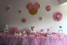 Candy Minnie / cumpleaños infantil en rosa y dorado