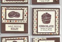 CTMH; Chocolate Affair Candy cards