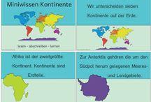 Kontinente der Erde