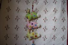 Bunnies and Beads / I love making door hangers.  I was asked for one with an Easter theme and came up with this.