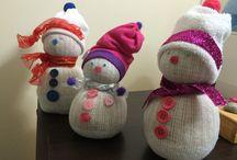 ☃ Bonhommes ⛄️ / Bonhommes de neige fait à la main!