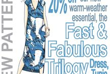 Inspiration: Fast & Fabulous Trilogy Shift Dress, Tunic & Top / ...when it's just TOO HOT to wear fitted ANYTHING, make yourself these breezy pieces (in natural fibers, of course) and waft around feeling cool and looking fabulous...