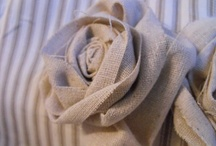 Fabric Rossetts and Flowers
