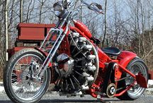 Motor bikes.