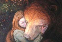 bear and girl