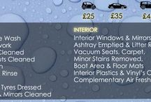 Services and Prices / Mobile car valeting services and prices