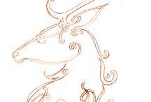 Patterns: deers - Minták: szarvasok