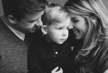 b&w familly portrait