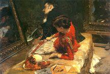 Leon  Wyczółkowski / Czołowy malarz, grafik i rysownik okresu Młodej Polski; wybitny reprezentant nurtu realistycznego w polskiej sztuce. Urodzony 11 kwietnia 1852 w Hucie Miastowskiej k. Siedlec, zmarł 27 grudnia 1936 w Warszawie