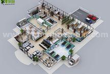 3D interactivos Piso planos / Yantram Studio Proporcionar servicios de plan de piso 3D, la representación de plan arquitectónico, la empresa de diseño de Plan de Sitio 3D, planes de piso modernos, plan de pisos casa, ideas de planos de planta 3D Secciones Plan.