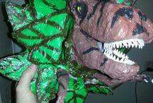 papier mache dinosaurus