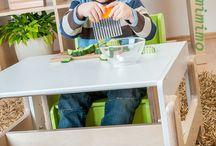 dětský rostoucí nábytek / židle a stůl / Jedinečný rostoucí nábytek pro děti od 6 měsíců do 6 let.