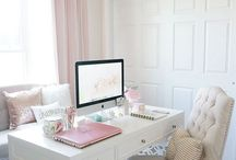 Feminine home offices