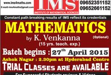 IAS/IFoS Mathematics Optional New Batch Begins / by Ims New Delhi
