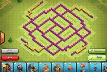 clashofclans base layouts / Clash of clans base layouts. http://www.clashwiki.com/th8-farm-design/