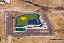 Aerial Photos of College Softball Field