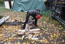 Kløyving av tømmer