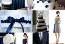 Wedding colors - white & navy blue