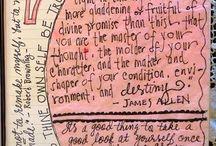 Journaling ideas / Art journaling, diary & scrapbook journaling ideas