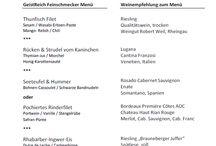 Restaurant GeistReich / Ein Auszug aus unserer aktuellen Speisekarte