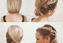 Hochsteckfr kurze Haare
