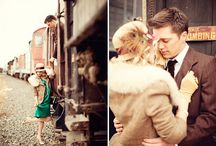 50's themed Couples Train Car Shoot