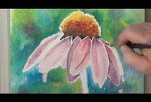 Akvarell virágok videó