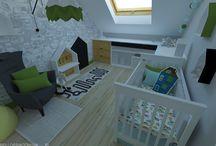 child room, wnętrza dziecięce, projekty wnętrz / wnętrza dziecięce, projekt pokoju dziecka, tekstylia z autorską grafiką bellopracownia.pl
