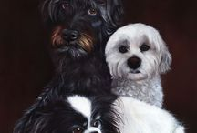 Dog oil paintings / A selection of lifelike, high end pet portraits from the Tilly & Blue range