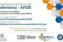 Congreso Montevideo  Internacional de Emprendimiento / Me complace anunciarte la organización del IV CONGRESO INTERNACIONAL DE EMPRENDIMIENTO sobre: Construcción de una Sociedad Emprendedora que vamos a celebrar en la ciudad Montevideo Uruguay  durante los días 11 al 15 de Abril 2016 emprendedoresafide2016.com.uy