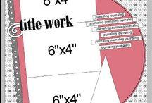 Scrapbooking- 4x6 sketches
