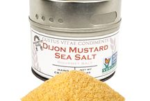 Dijon Mustard Sea Salt Inspiration / Tangy and crisp. Recipes and foods that would pair strikingly well with Dijon Mustard Sea Salt.