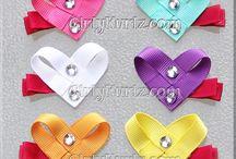 hearts & ribbon