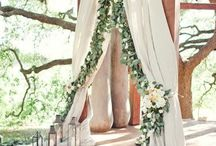 Ideas for weddings / bride-flower girl dresses, photo booths, altars & arch decorations, and more details for that special ceremony & reception!