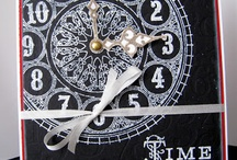 Clock / White on black