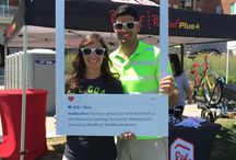 Pelotonia 2015 / Our booth at the Pelotonia Opening Ceremony! Thank you to all those who participated this weekend (Aug 7-9, 2015) in Pelotonia! #OneGoal