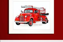 Firefighter Nursery / Ideas and products I'm loving for our little boy's firefighter nursery!