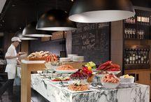 Hotel restaurant buffet