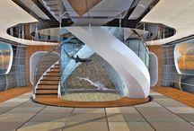 Trappen ter inspiratie - stairs / Inspiratie voor trappen. Voor het (be-)schilderen van uw trappen, neem vrijblijvend contact op met www.margrietvaneijk.nl 06 246 346 29