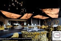 Interior Design / Nous fabriquons également des toiles tendues pour les projets designs des entreprises et autres espaces publics.