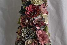 Árbol flores de papel