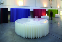 FURNITURE / ARCHITECTURES OF PAPER / TABLES, STOOLS, COUNTERTOPS, PAPER, FURNITURE, DECORATION PROCEDES CHENEL