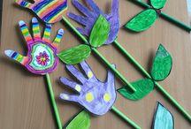 fleurs mains