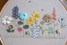Button embroidery